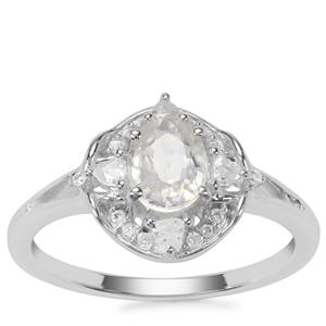 Ratanakiri Zircon Ring with White Zircon in Sterling Silver 1.29cts