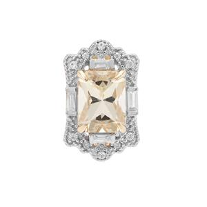 Serenite Pendant with White Zircon in 9K Gold 2.40cts