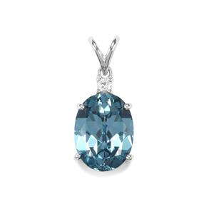 Versailles Topaz Pendant with White Topaz in Sterling Silver 11.22cts