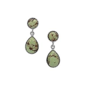 Queensland Chrysoprase Earrings in Sterling Silver 17cts