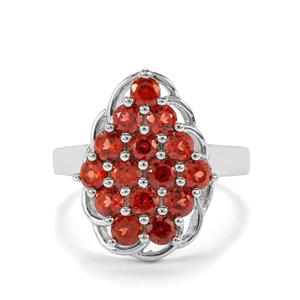 Nampula Garnet Ring in Sterling Silver 2.20cts
