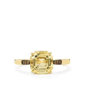 Serenite Ring with Champagne Diamond in 10k Gold 2.35cts