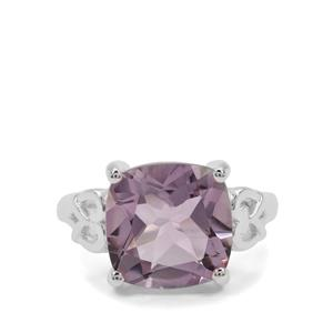 Rose De France Amethyst Ring in Sterling Silver 6.50cts
