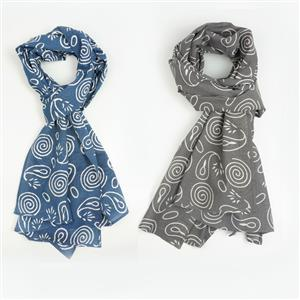 Choice of Blue and Grey Colour Womens Cotton Scarf