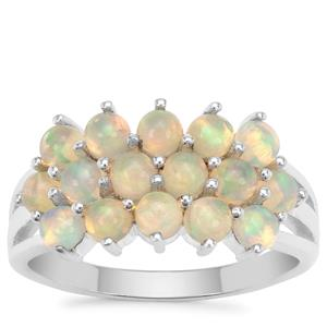 Ethiopian Opal Ring in Sterling Silver 1.51cts