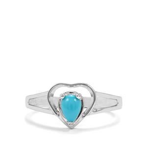 Sleeping Beauty Turquoise Ring in Sterling Silver 0.39ct