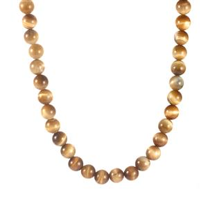 317.80ct Golden Tiger's Eye Sterling Silver Necklace